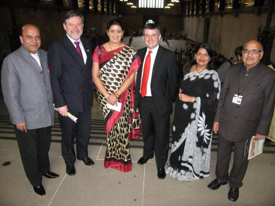 Samriti Irani and Jon Ashworth